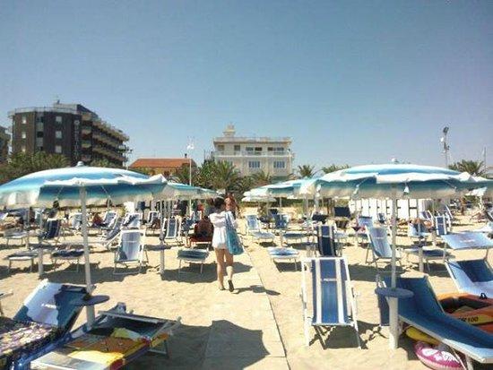 Hotel President: spiaggia