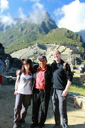 Lorenzo Expeditions: With our fantastic guide Wilbur at the end of our tour at Machu Picchu