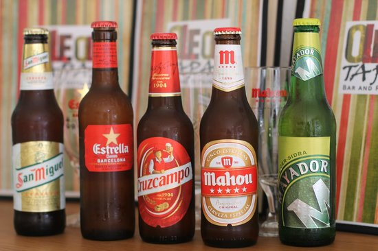 Ole Ole Tapas Bar & Restaurant: Beers on offer