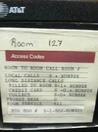 Americas Best Value Inn Rawlins: Misspelling of Phone Directory