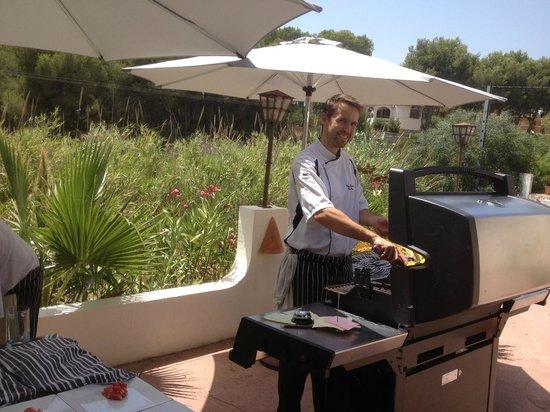 Restaurante Ca Pepe : Der Chef  am Grill