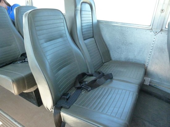 Wilderness Access Center : Bus seats