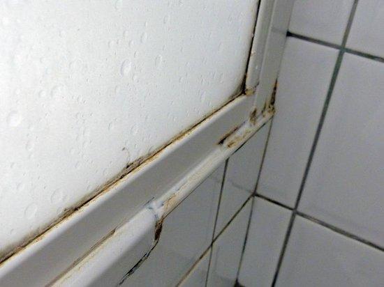 Hunguest Hotel Millennium: Duschkabine Schiebetüre außen