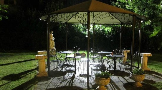 Hotel Villa Foscarini: We had a late beer in this garden. Beautiful.