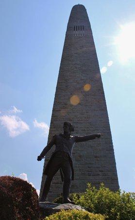 Bennington Battle Monument: Gen Stark leading the way