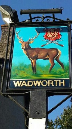 The Red Shoot: pub sign
