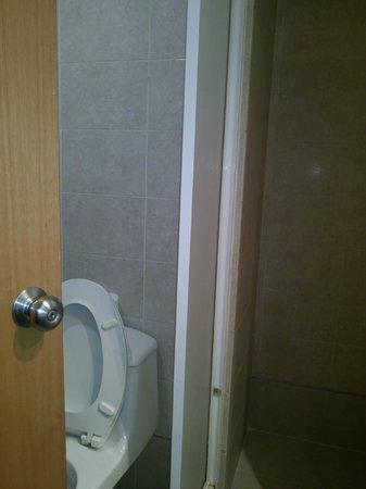 Hotel Coliseo: Entrada de baño, estrecho