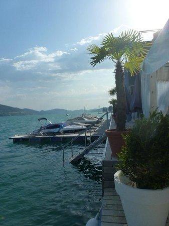Hotel Park's: Bootssteg und Einstieg ins Wasser