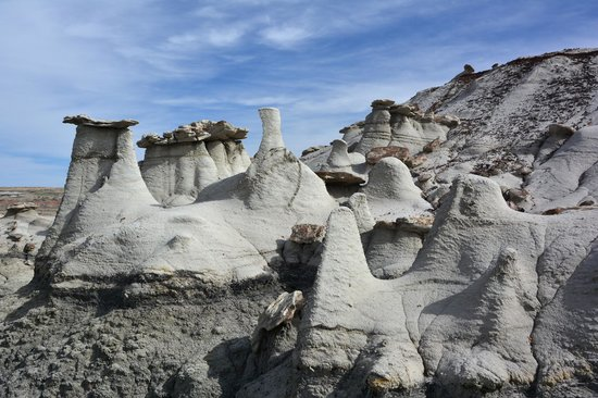 Farmington, Nuevo Mexico: rock formations - Bisti Badlands