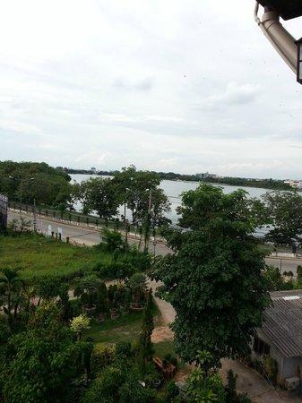 Veeranya Vill Hotel: view from balcony