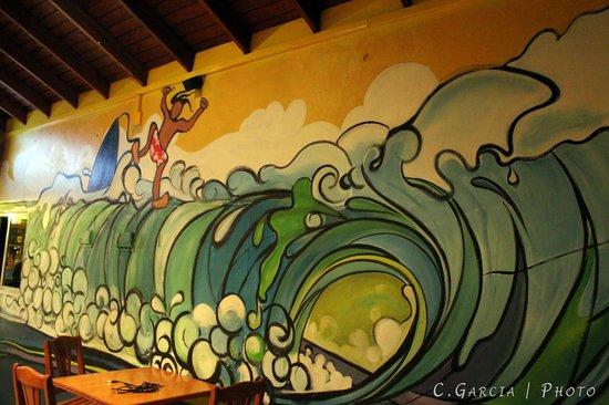 Cloud 9 Bar & Grill: Our beautiful mural