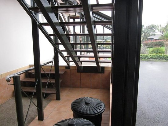 Aotea Lodge: The view from 401 - The Cupboard Under the Stairs