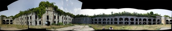 Interior panarama of Fort Gorges