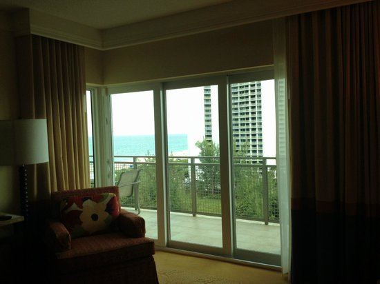 Marriott's Oceana Palms: view thru the windows
