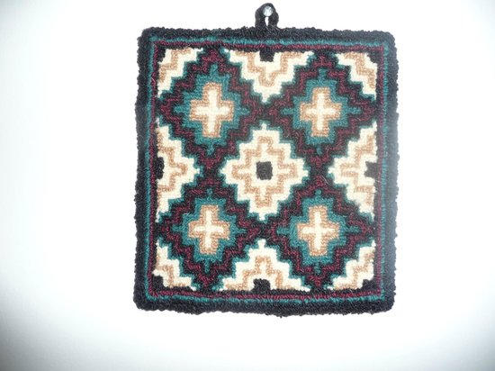Flora's Gift Shop: Hooked rug from Flora's