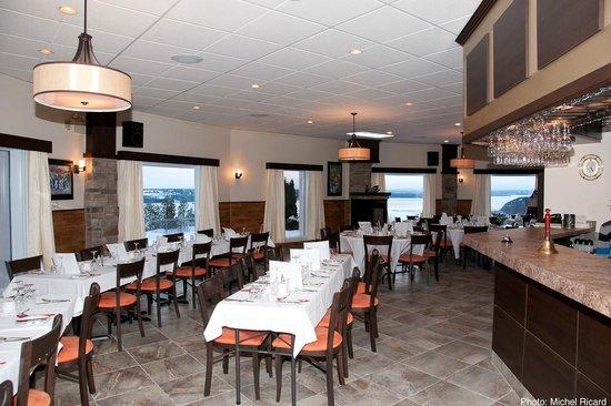 Restaurant Trésor du Fjord de l'Auberge La Tourelle du Fjord : Restaurant