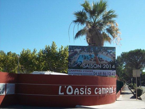 Camping L'Oasis: Entrée