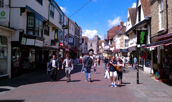 Canterbury Guided Tours: Canterbury High Street looking to West Gate