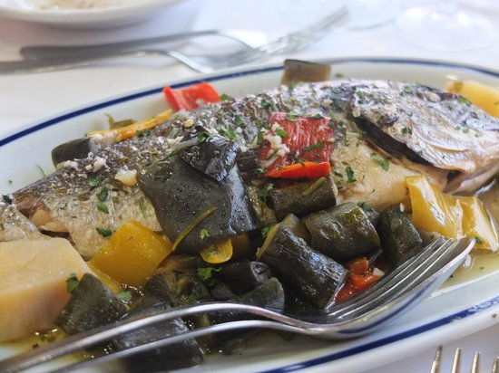 Restaurant Galuppi: the Special - fish & veggies
