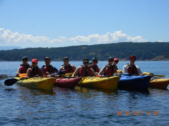 Quadra Island Kayaks - Day Tours: Our family picture