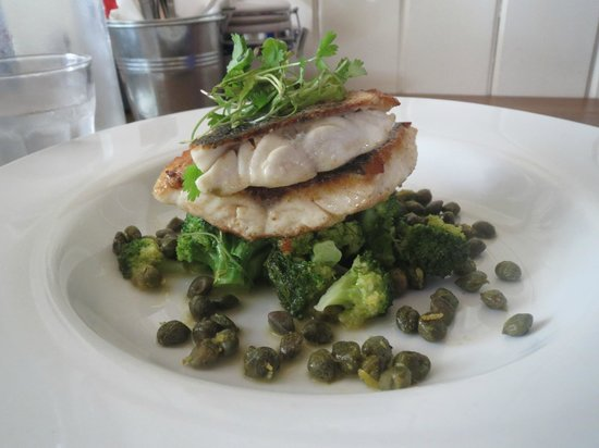 The Marram Grass Cafe: Sea bass