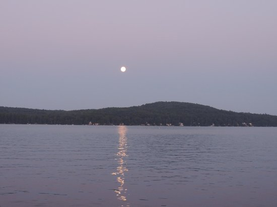 Lake Winnipesaukee: Full moon coming up over Winni