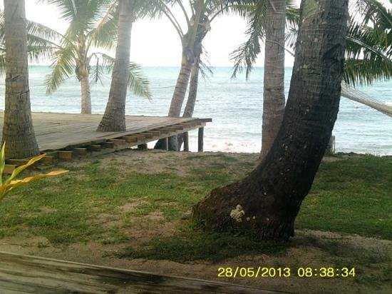 Safe Landing Resort: view from our bure.. paradise!