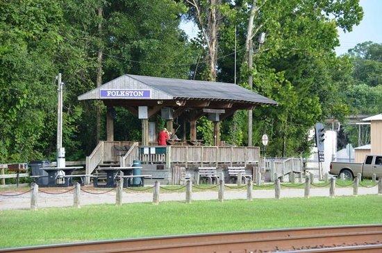 Folkston Funnel Train Viewing Platform: The main platform
