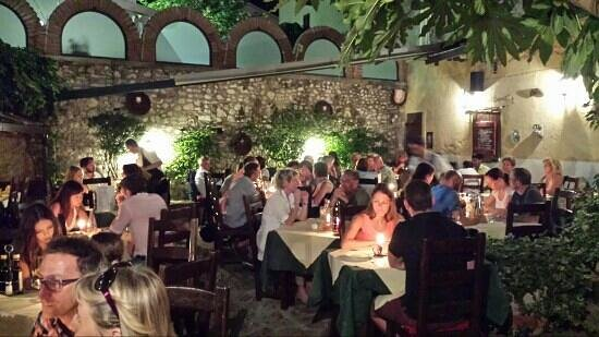 Taverna dei Capitani: the courtyard where you will have dinner :)