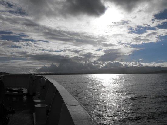 Va-i-Moana Seaside Lodge: heading to Savaii on the ferry.