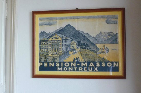 Hotel Masson: Original poster 180 years previously!