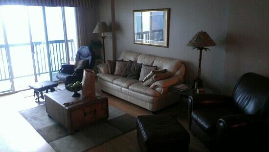 The Ashworth: nice big living room and the longest balcony I've ever seen on a condo(unit 803)