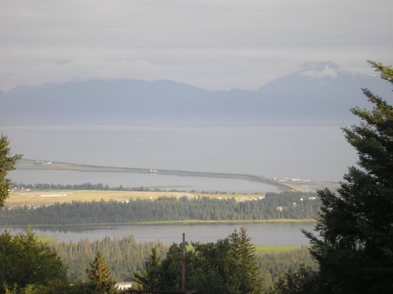 View from Wild Rose Cottages of Homer Spit