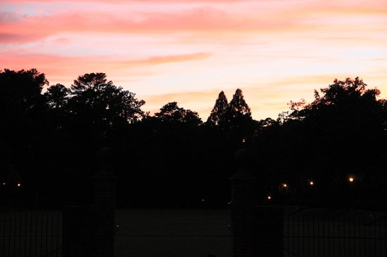 The College of William and Mary : Sunken Garden at sunset