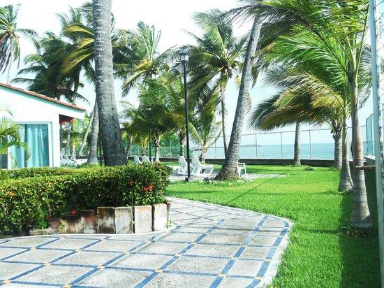 Marina San Blas: Vista de una parte del jardín