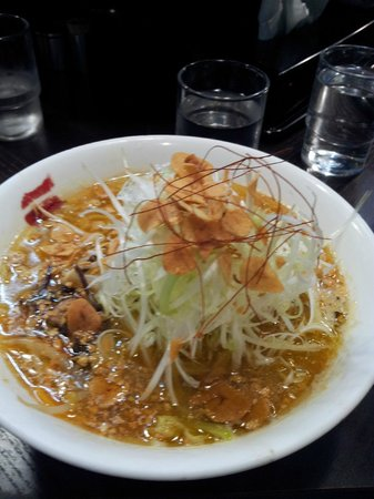 Nitori no Keyaki Susukino : 味噌ラーメン ネギ+にんいにく