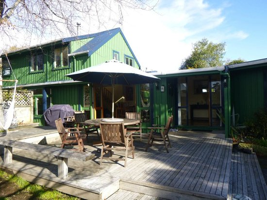 TroutBeck Fishing Lodge: front deck