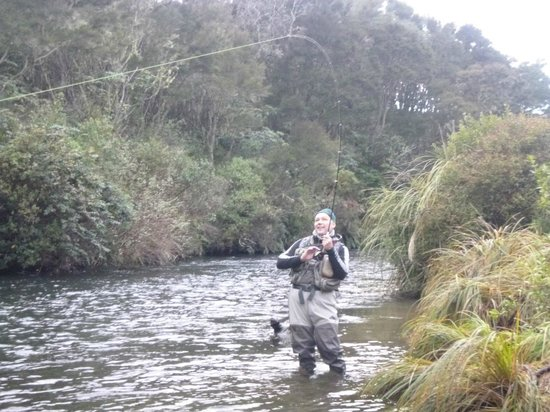 TroutBeck Fishing Lodge: hooked up