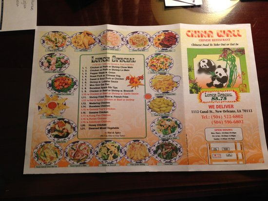China Wall Chinese Restaurant Delivery Menu