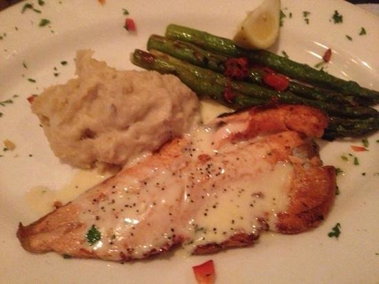 Pasta Cafe Italian Bistro: trout with lemon-butter squce, asparagus and mashed potatoes