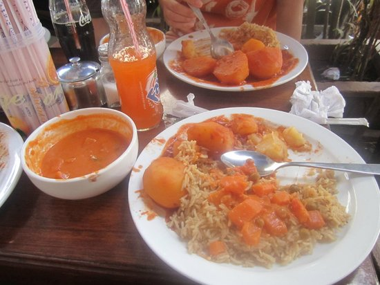 Lukmaan Restaurant: A portion of our meal