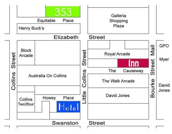 คอสอเวย์353โฮเต็ล: Map