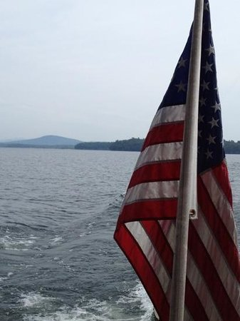 Basin Harbor: Lake Champlain from stern of the 'ESCAPE'