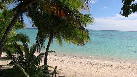 Aitutaki Beach Villas: Beach in front of villas