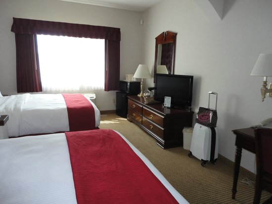Quality Inn Grand Suites: Flat screen tv & fridge