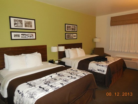 Sleep Inn & Suites : Nicely appointed queen sized beds