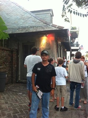 Haunted History Tours of New Orleans : My son on the Haunted History tour