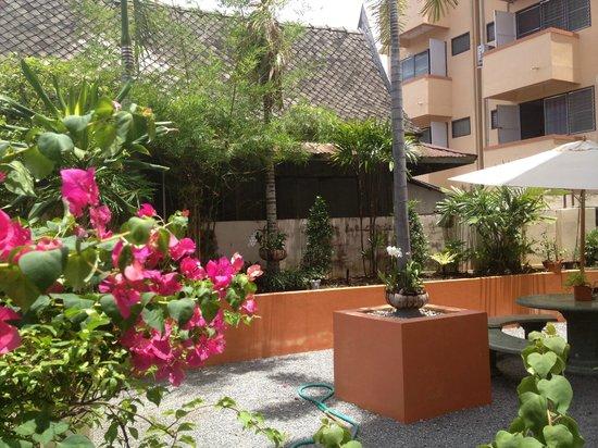 Sofia Hotel: Back Garden Area