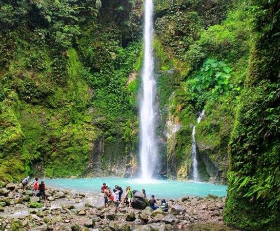 Two Colors Sibolangit Waterfall: water fall two color