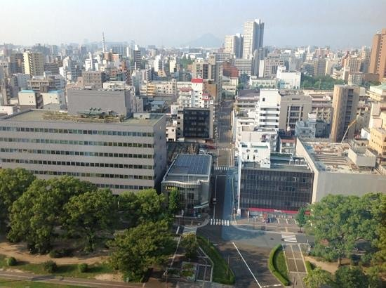 Mitsui Garden Hotel Hiroshima : view from our hotel room